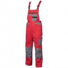 Monterkové nohavice na traky 2STRONG, červeno-sivé