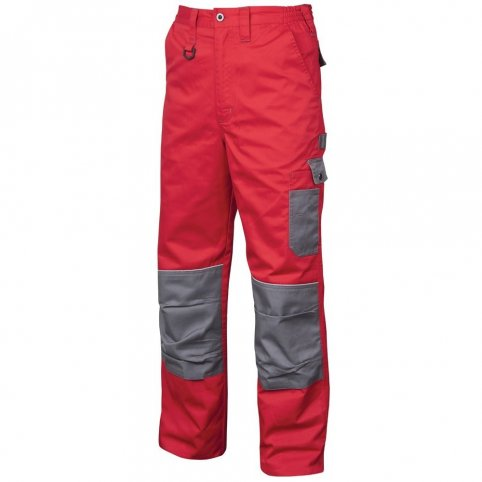Monterkové nohavice 2STRONG, červeno-sivé