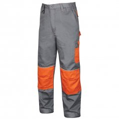 Monterkové nohavice do pása 2STRONG, sivo-oranžové