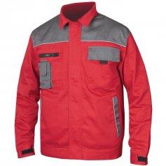 Monterková bunda 2STRONG, červeno-sivá