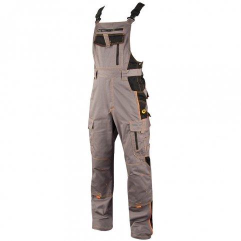 Monterkové nohavice na traky VISION, sivo-čierne