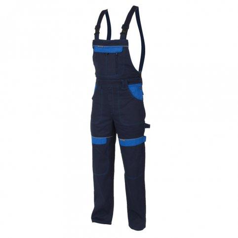 Monterkové nohavice COOL TREND na traky, tm.modro-sv.modré