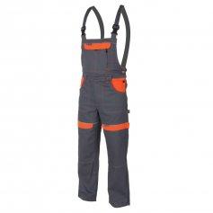 Monterkové nohavice COOL TREND na traky, sivo-oranžové