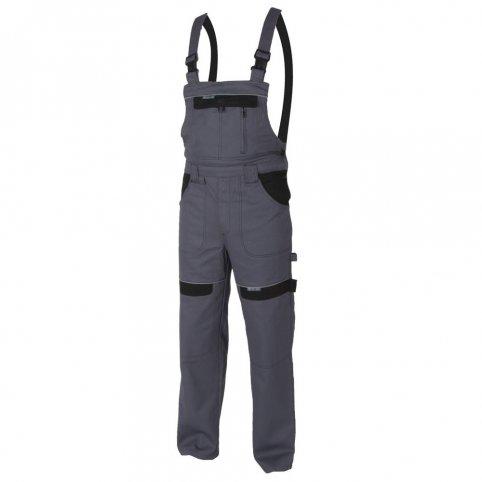 Monterkové nohavice COOL TREND na traky, sivo-čierne