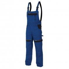 Monterkové nohavice COOL TREND na traky, modro-čierne