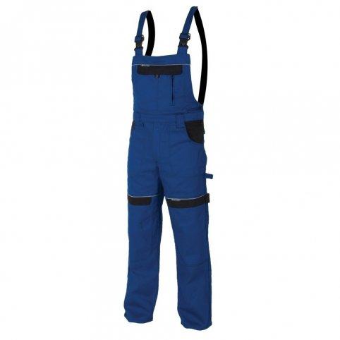 Predĺžené monterkové nohavice COOL TREND na traky, modro-čierne