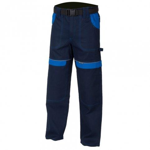 Monterkové nohavice COOL TREND, tm.modro-sv.modré
