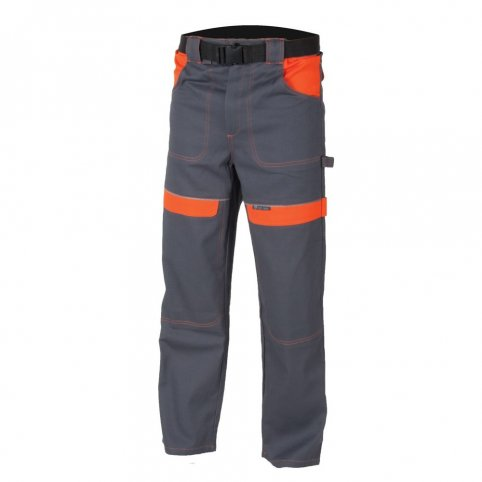 Monterkové nohavice COOL TREND, sivo-oranžové