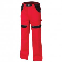 Monterkové nohavice COOL TREND, červeno-čierne