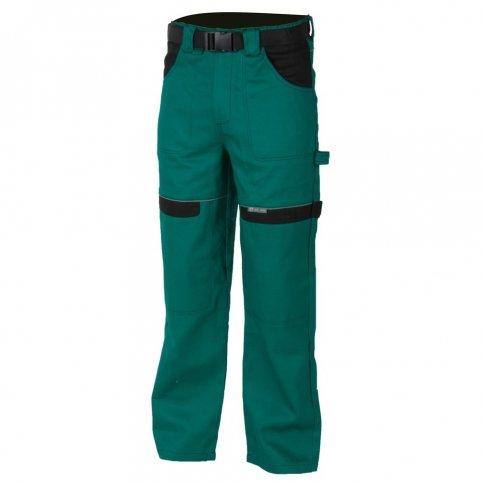 Monterkové nohavice COOL TREND, zeleno-čierne