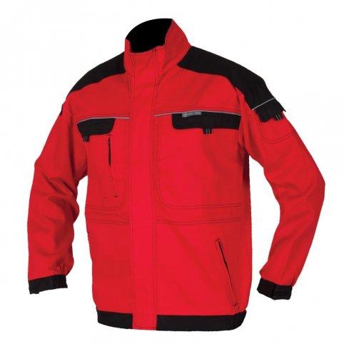 Predĺžená monterková bunda COOL TREND, červeno-čierna