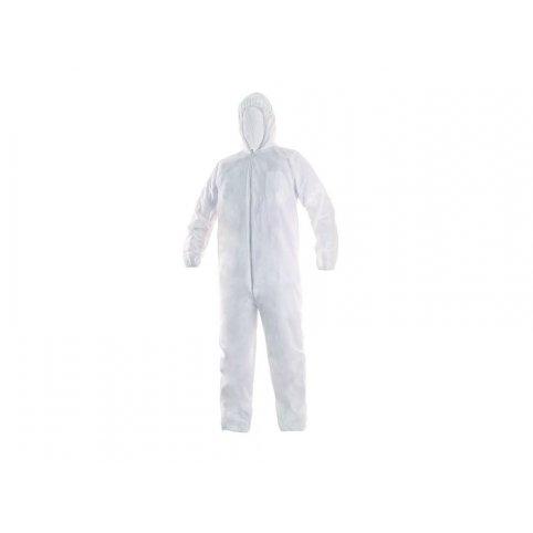 Jednorázový oblek OVERAL, biely