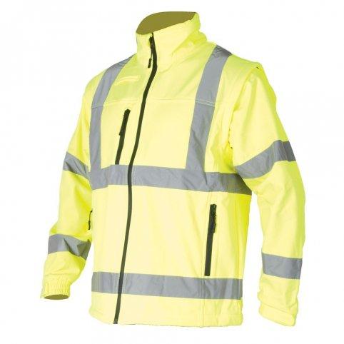 Pánska softshellová bunda HI-VIZ S428, žltá