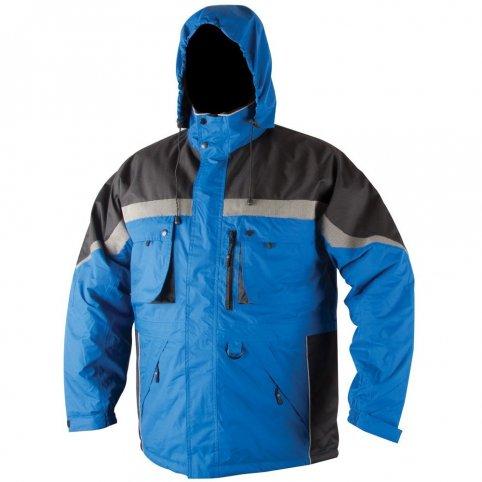 Pánska zimná bunda MILTON, modro-čierna