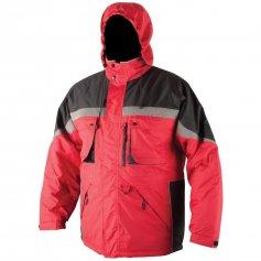 Pánska zimná bunda MILTON, červeno-čierna
