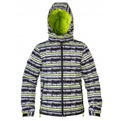 Detská zimná bunda MELON, čierno-zelená