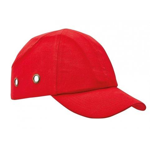 Bezpečnostná čiapka s ochrannou výstuhou DUIKER, červená