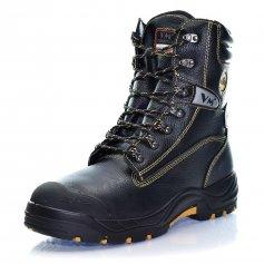 Protiporezová poloholeňová obuv s oceľovou špicou BELFAST S3