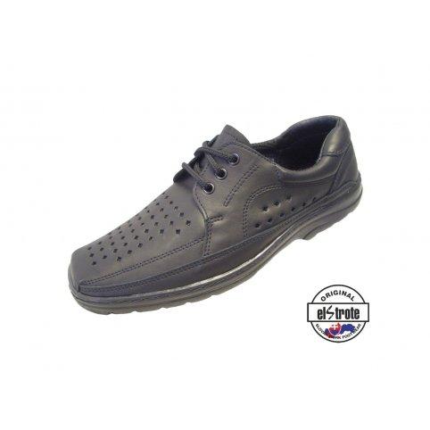 Manažérska pracovná obuv perforovaná - Office - 91100, čierna