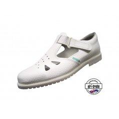 Zdravotná pracovná obuv CLASSIC, sandále - 91 500 f.10, biele