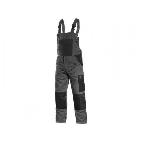 Pánske letné nohavice na traky PHOENIX CRONOS, sivo-čierne