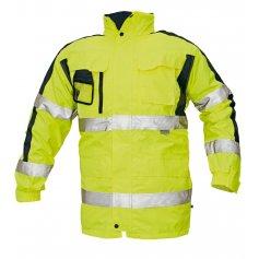 Zateplená bunda TRIPURA 4 v 1 reflexná, žltá