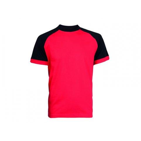 Tričko s krátkym rukávom OLIVER, červeno-čierne