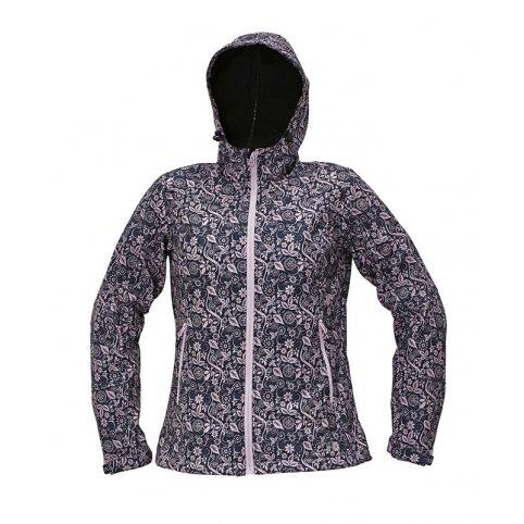 Dámska softshellová bunda YOWIE PRINTED, fialovo-modrá