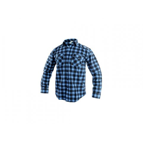 Pánska košeľa s dlhým rukávom TOM, modro-čierna