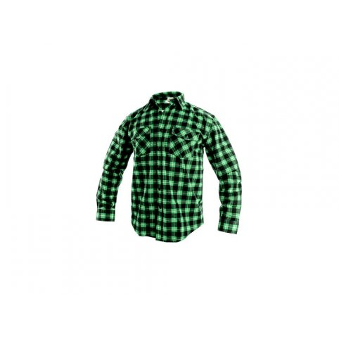 Pánska košeľa s dlhým rukávom TOM, zeleno-čierna