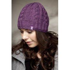 HEAT HOLDERS dámska zimná čiapka s termo podšívkou HEATWEAVER fialová
