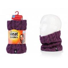 HEAT HOLDERS dámsky zimný nákrčník s termo podšívkou HEATWEAVER fialový