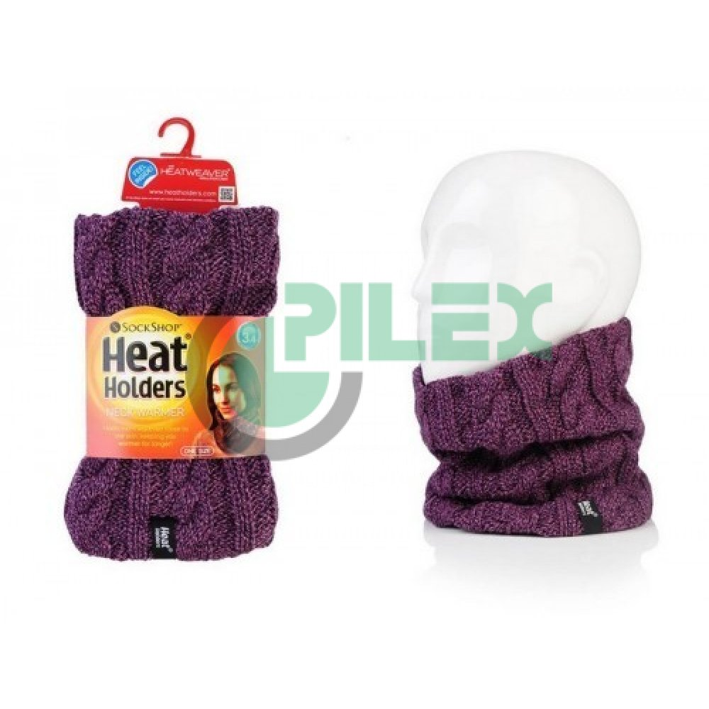 3c920e296 HEAT HOLDERS dámsky zimný nákrčník s termo podšívkou HEATWEAVER fialový.  Loading zoom