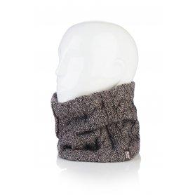 HEAT HOLDERS dámsky zimný nákrčník s termo podšívkou HEATWEAVER hnedý