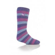 Heat Holders termo ponožky detské prúžkované, fialové