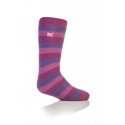 Heat Holders termo ponožky detské prúžkované, ružové