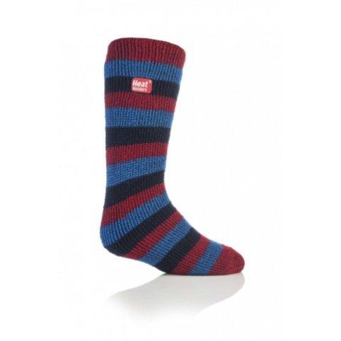 Heat Holders termo ponožky detské prúžkované, červené