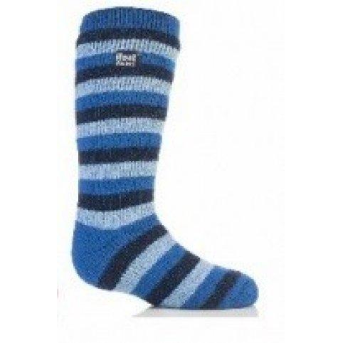 Heat Holders termo ponožky detské prúžkované, modré