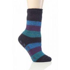 Heat Holders termo ponožky detské protišmykové, modro fialové
