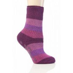Heat Holders termo ponožky detské protišmykové, ružovo fialové