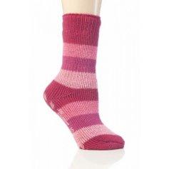 Heat Holders termo ponožky detské protišmykové, ružové