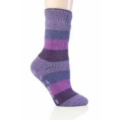 Heat Holders termo ponožky detské protišmykové,fialové