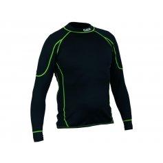 Pánske funkčné tričko REWARD, dl. rukáv, čierno-zelené
