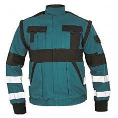 Montérková bunda MAX REFLEX, zeleno-čierna