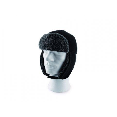 Zimná ušianka FJODOR, čierno-sivá