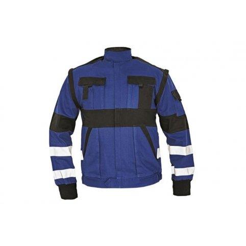 Montérková bunda MAX REFLEX, modro-čierna