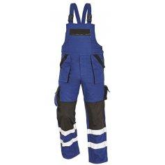 Montérkové nohavice s náprsenkou MAX REFLEX, modro-čierne
