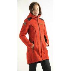 Dámsky kabát HEKEROVÁ, oranžový