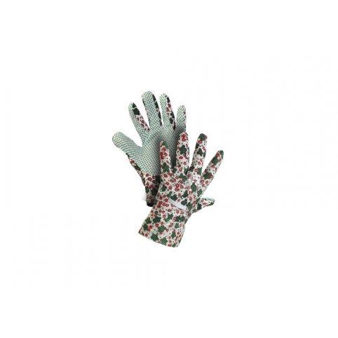 Textilné rukavice TABLA, s PVC terčíkmi, veľ. 8