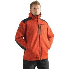 Pánska bunda GERLACH s kapucňou, oranžová